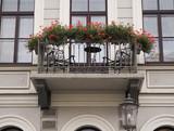 Balcony with flowers. Saint-Petersburg. Autumn 2017.  - 176253647