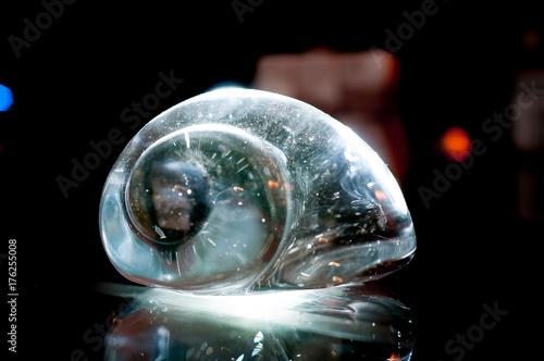 Staande foto Heelal Glasschnecke