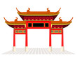 China town door and floor isolate on white background vector design