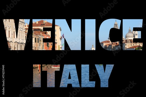 Deurstickers Venetie Venice travel sign