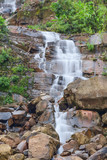 Rain season waterfall near Namngum2 dam site Vangvieng Laos