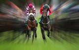 horse race action Motion blur effect  - 176260823