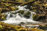 river water stones moss waterfall - 176262833