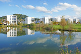 wohnhäuser am see, köniz, schweiz  - 176265003