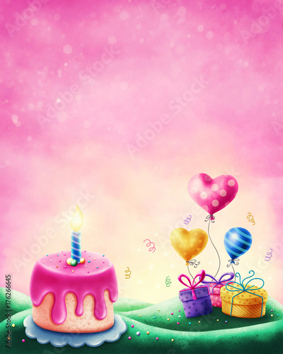 Aluminium Candy roze Magic landscape