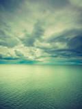 Idyllic shot of horizontal sea water and sky - 176274069