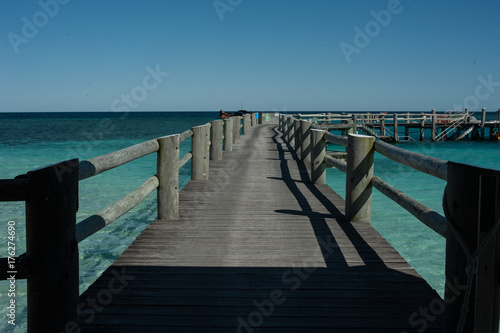 pier at beautiful beach on Heron Island, Australia
