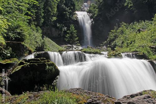 Staande foto Natuur Giessbachfälle, Brienz, Schweiz