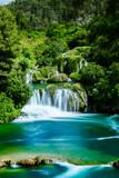 Fototapeta Krajobraz - Wasserfall im Krka Nationalpark © Calvin