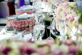 Luxury wedding decoration of the table - 176281247