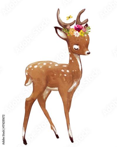 slodkie-letnie-jelenie-akwarela