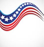 USA star flag logo stripes design elements vector icon - 176283655