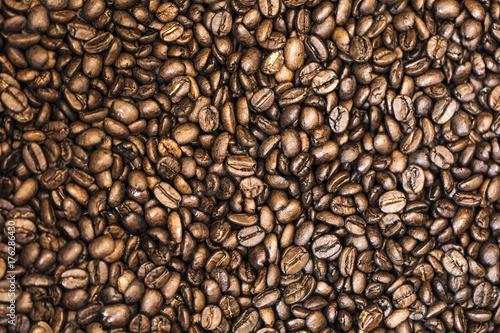 Fotobehang Koffiebonen grains de café