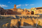 Rome. Trajan's Forum at sunset. - 176289007
