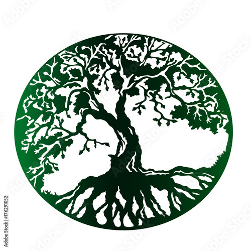 a green stamp is a tree of life with dense roots green planet is an rh apimages com Disney Tree of Life Logo Disney Tree of Life Logo