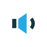 Megaphone Colorful Icon Symbol. Premium Quality Isolated Volume Down Element In Trendy Style. - 176292423