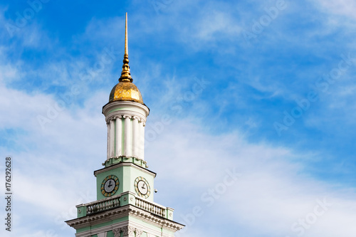 Foto op Canvas Kiev Old tower with clock in Kyiv.