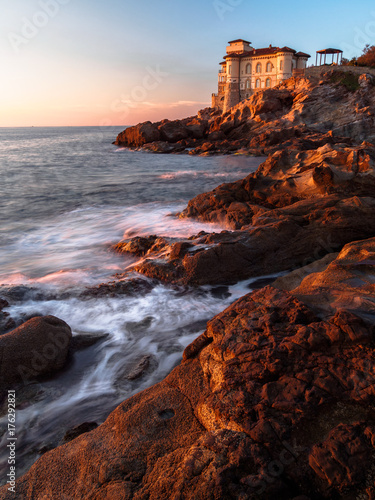 Keuken foto achterwand Zee zonsondergang Castel Boccale