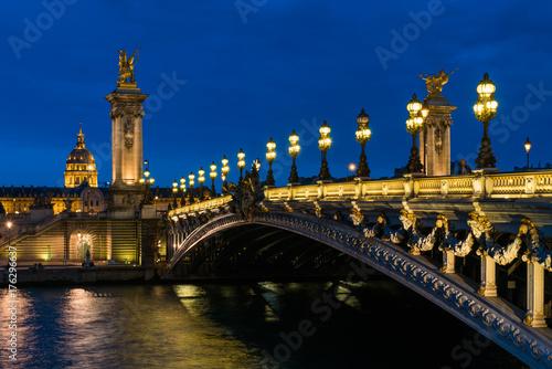 pont alexandre iii paris poster affiche acheter le sur. Black Bedroom Furniture Sets. Home Design Ideas