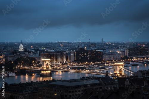Kettenbrücke Budapest Poster