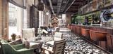 Fototapety Concept design of modern Restaurant lounge bar