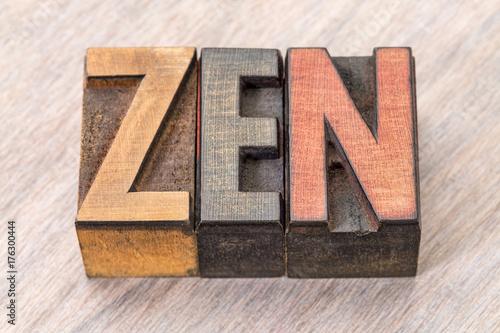 Papiers peints Zen zen word abstract in wood type
