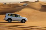 White cars in desert next to Dubai - 176305832