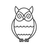 Owl linear icon