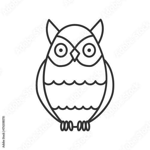 Fotobehang Uilen cartoon Owl linear icon