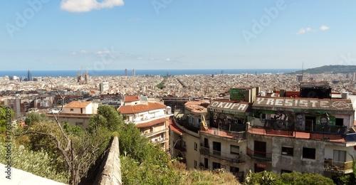 Espagne Catalogne Barcelone Barcelona Catalunya Okupa Resiste indépendance lutte vue générale