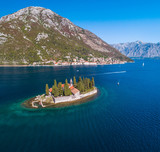 Aerial view of the Bay of Kotor, St George Monastery - 176319442