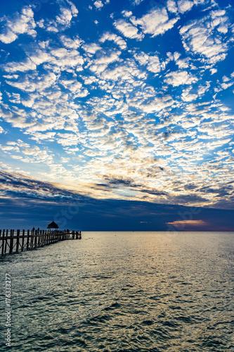 Fotobehang Zanzibar Sunset of Zanzibar in Tanzania. Zanzibar is a semi-autonomous region of Tanzania in East Africa.