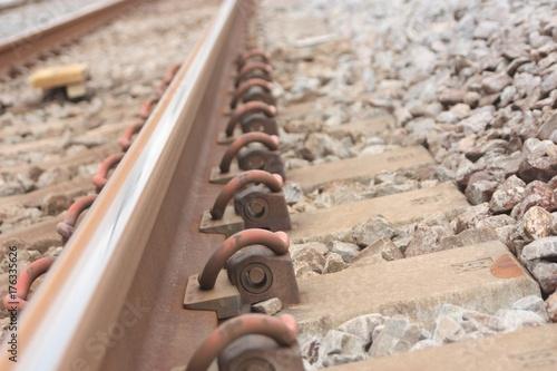 In de dag Spoorlijn 線路上