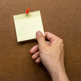 Right hand side holding post note paper - 176337079