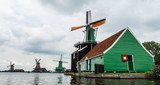 Windmills in the Netherlands - Green and Orange - 176338806