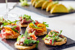 canape on the holiday table - 176339213