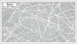 Paris Map in Retro Style. Hand Drawn. - 176340498