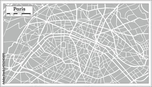 Fototapeta Paris Map in Retro Style. Hand Drawn.