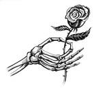 Dead hand and rose - 176340822