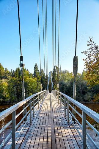 Fotobehang Bruggen Cable-stayed bridge in Sigulda