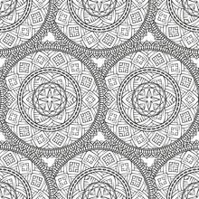 Etnische ronde motieven naadloze patroon