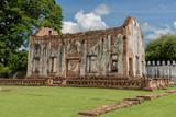 The ruins of royal chapel of King Narai in his palace at Lopburi Province, Thailand. King Narai ruled Ayutthaya Kingdom from 1656 to 1688 - 176343662