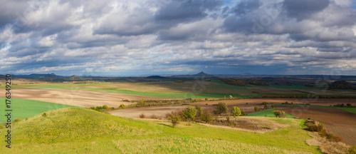 Fotobehang Autumn landscape in Central Bohemian Highlands, Czech Republic