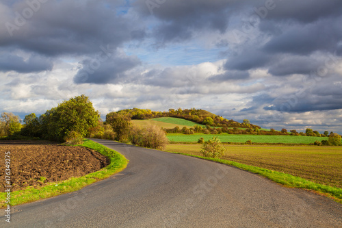 Fotobehang Autumn scenery in Central Bohemian Highlands