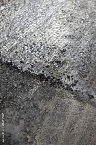 Staande foto Stenen asphalt structure