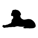 Sphinx ancient national egyptian silhouette - 176353698
