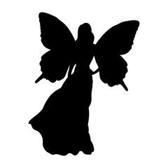 Fairy silhouette fairytale fantasy magical