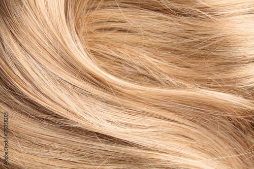 Foto op Canvas Kapsalon blond human hair texture