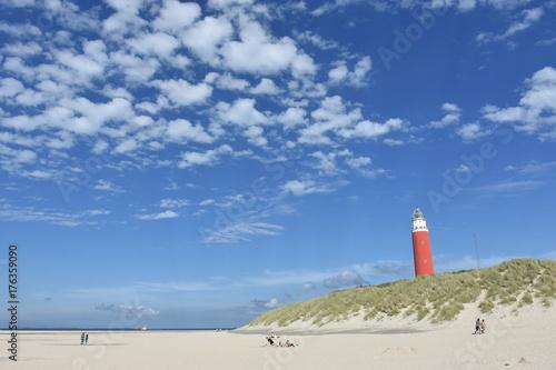 Fotobehang Noordzee Leuchtturm Texel