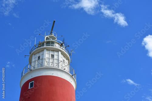 Foto op Canvas Noordzee Leuchtturm Texel